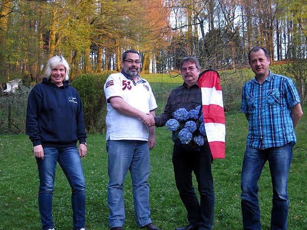 Von links  nach rechts:  Anne-Katrin Weber-Redecker (Schatzmeisterin), Walter Albert (1.Vorsitzender), Andreas Jama (Geschäftsführer), Dirk Kattermann (2.Vorsitzender)